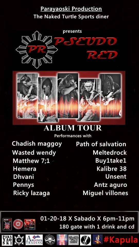 Pseudo RED Album Tour 1.20.2018