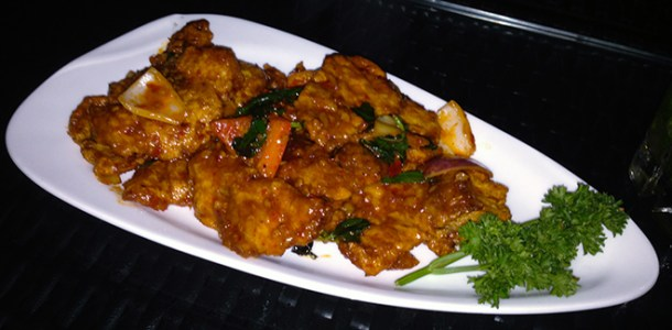Crispy Fish Coconut Chilly at Troika, Bangalore