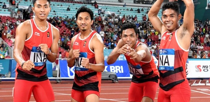 Zohri dkk akan bertanding di final estafet 4 x 100m Asian Games 2018. Foto:okezone