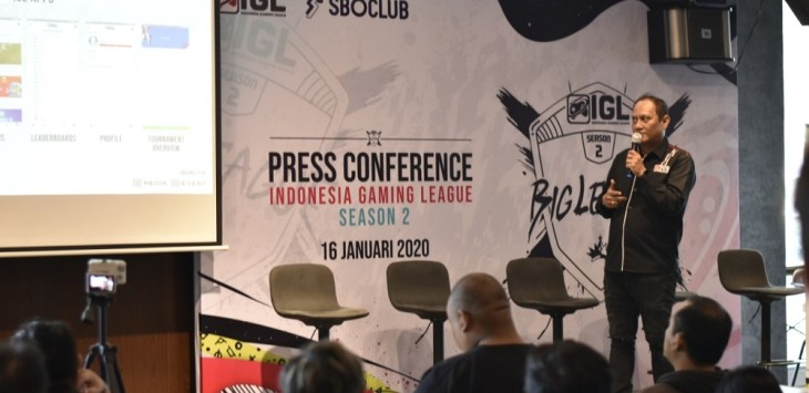 Suasana press conference gelaran Indonesia Gaming League (IGL) season 2.