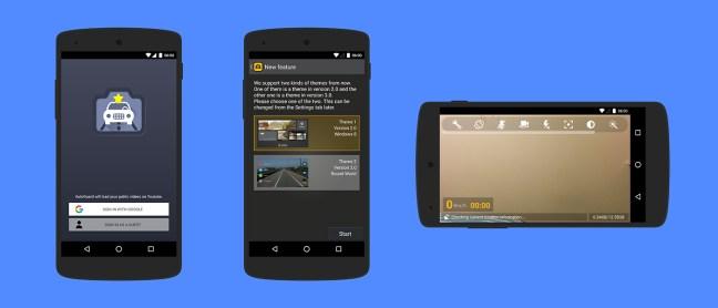 screenshots of the app AutoGuard Dash Cam - Blackbox