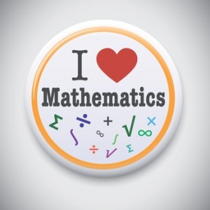 Button - I love mathematics