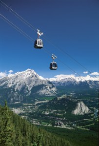 The Brewser-Banff Gondola in the Canadian Rockies.