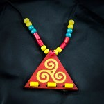 triangle red Necklace