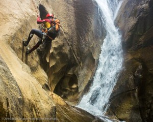 Rappelling in Canyon of the Dammed