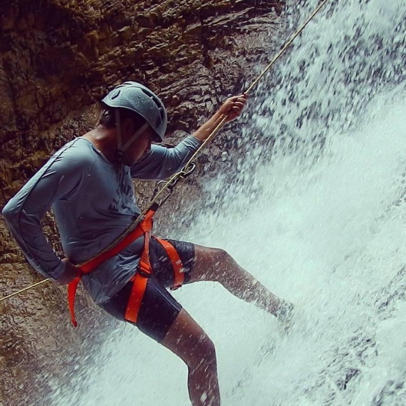Praveen Deshmukh - On Rappel, Nagalapuram West Canyon