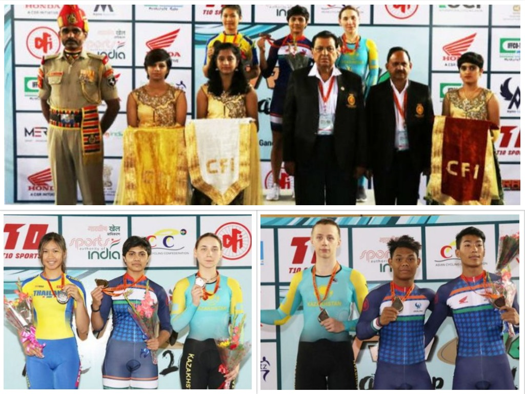 6 gold medals clinched by india in Cycling at Track Asia Cup 2018