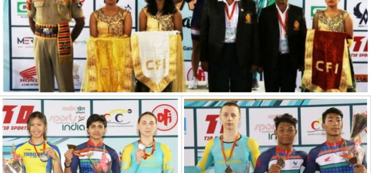 India clinched 6 gold medals in Cycling at Track Asia Cup 2018