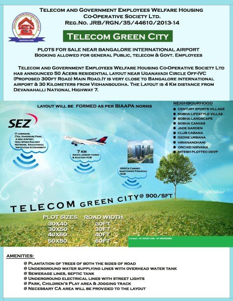 Telecom plots in Bangalore