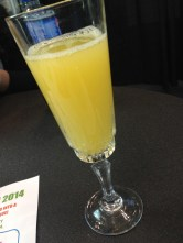 Mimosas for breakfast in the VIP Lounge