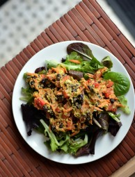 3. Southwestern Avocado Scramble Salad