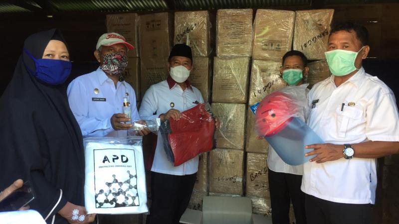 Wabup Banggai Monitoring Bantuan APD dari Kemensos RI