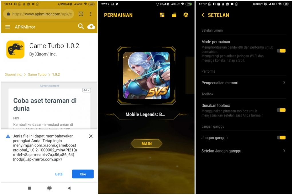 Install Game Turbo Xiaomi