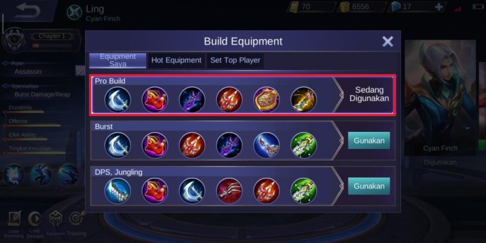 Ling Hero Mobile Legends Build