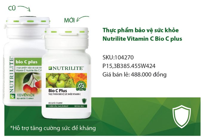 Vitamin C Amway Nutrilite Bio C Plus 100 viên Mẫu Mới