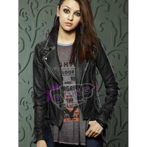 Get How To Get Away With Murder Katie Findlay Distressed Leather Jacket