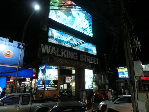 walking street signboard