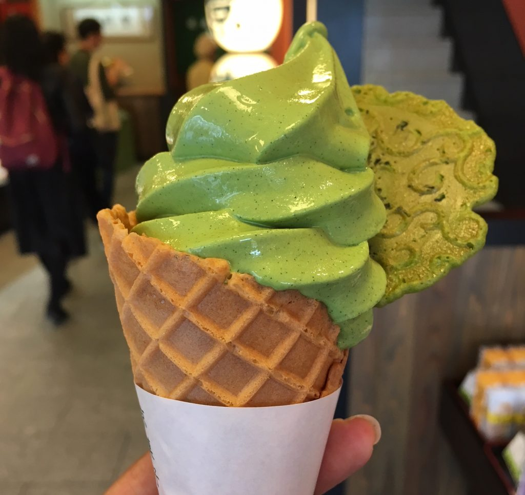 Matcha ice-cream_Kyoto
