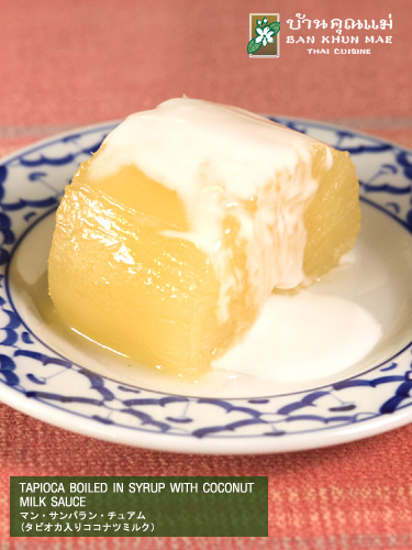 Tapioca Boiled in Syrup with Coconut Milk Sauce