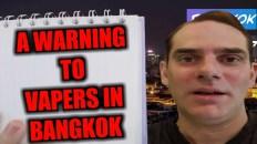 Vaping in Bangkok