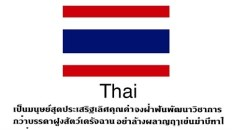 Thai language is the worlds most complicated writing system