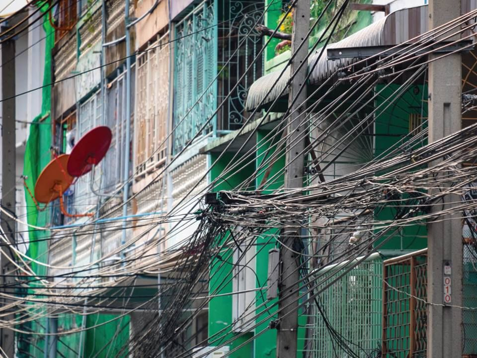 Cables and power lines in Bangkok