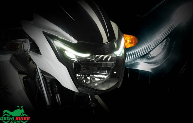 Apache RTR 150 headlight
