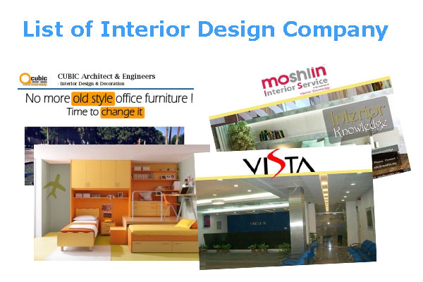 List of interior design firms for About us content for interior design company