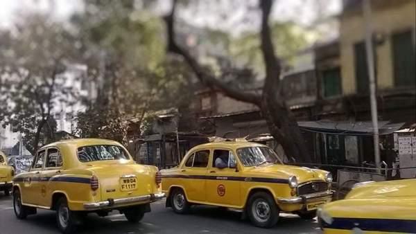 Yellow cab Taxi Driver Kolkata taxi কলকাতার ট্যাক্সি