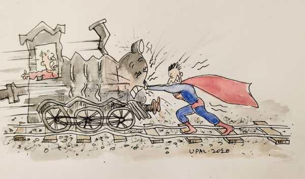 inertia cartoon by Upal