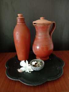 old drinking jars