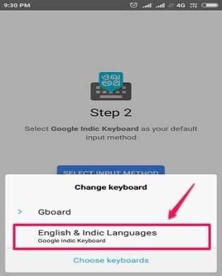 select indic languages