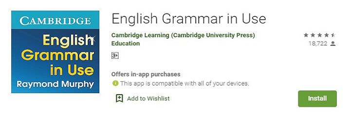 English Grammar in use app
