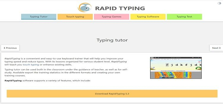 Rapidtyping typing software for windows