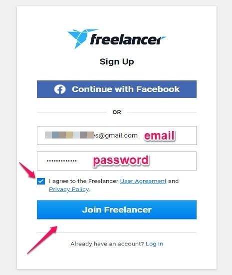 Enter details to signup