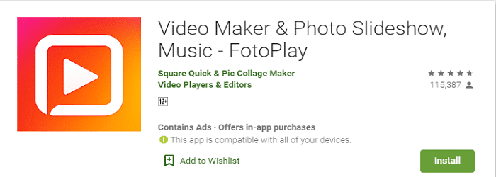FotoPlay slideshow maker