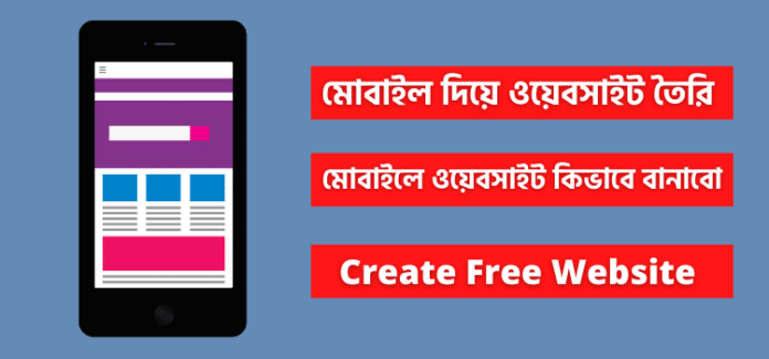 Creating website with mobile