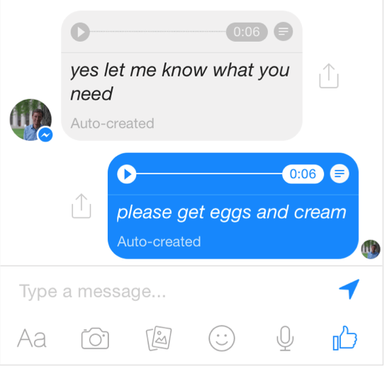 fb voice to text