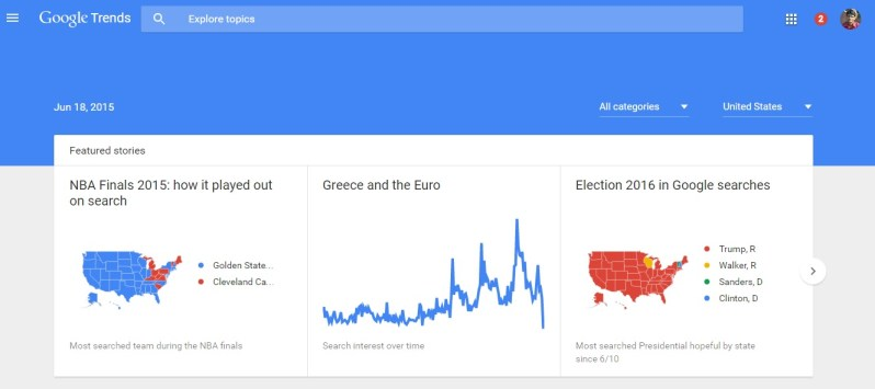 search trends google