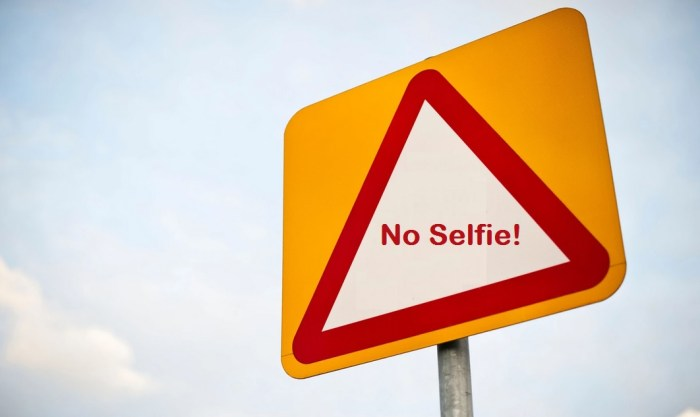 selfie issue
