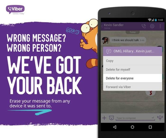 viber delete message