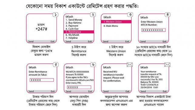 wetern union to bkash via mastercard