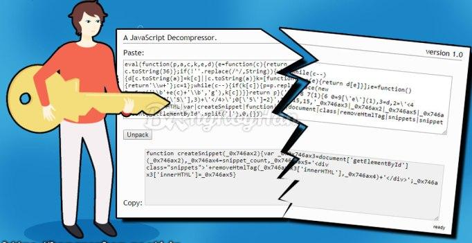 Cara Membuka Segel Javascript Menggunakan Decoder Unpacker deObfuscator Online