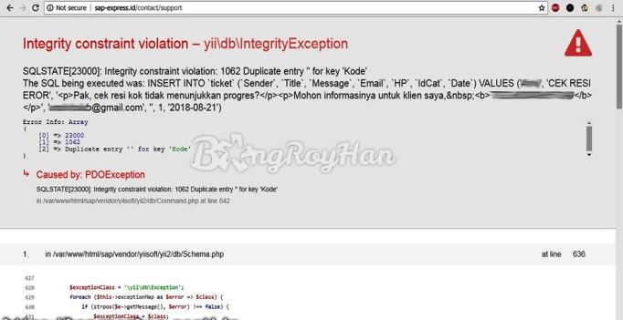 Error: Seperti Apa Sistem di SAP Express