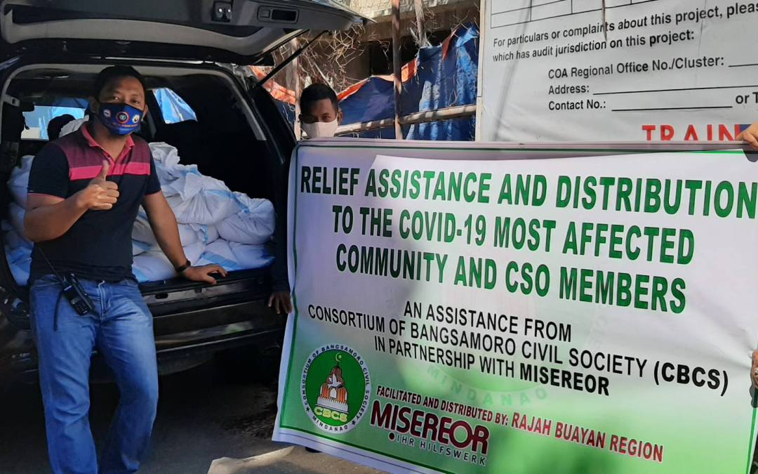 RECEPIENTS OF RICE ASSISTANCE IN RAJAH BUAYAN CLUSTER AREA  EXPRESSED GRATITUDE TO CBCS