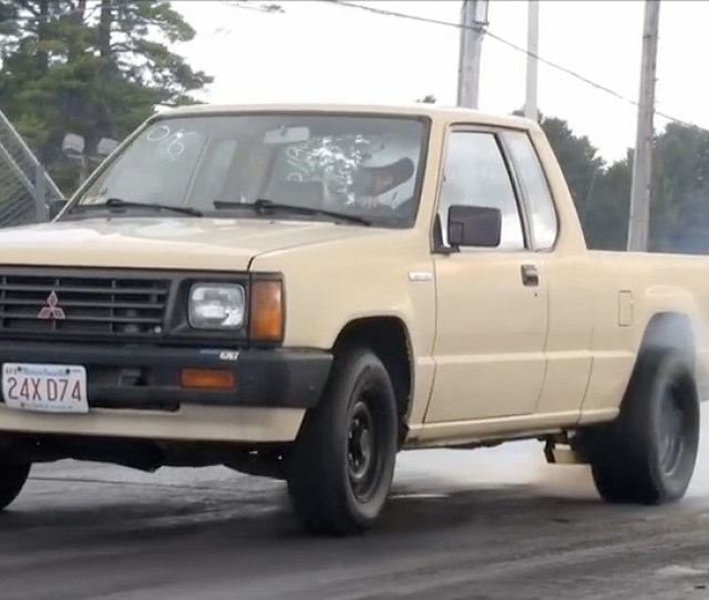 This Sneaky Little Mitsubishi Mighty Max Truck Runs S And Gets Cruised On The Street