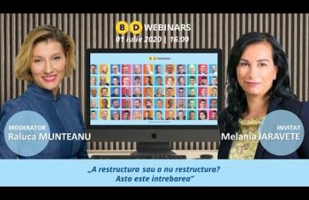 BD WEBINAR cu Melania Jaravete