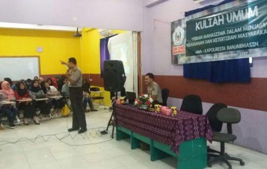Dua Brigadir Polisi Ini Bikin Histeris Mahasiswi Kampus ASMI Banjarmasin