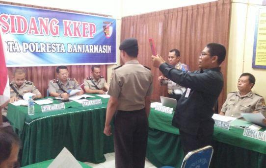 Waka Polresta Banjarmasin Pimpin Sidang Komisi Kode Etik Profesi (KKEP)