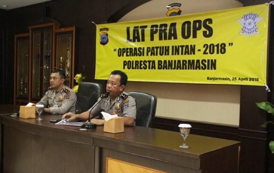Polresta Banjarmasin Gelar Latihan Pra Operasi Patuh Intan 2018
